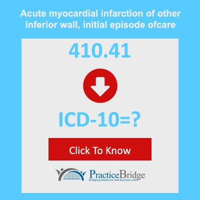 """Acute myocardial infarction of other inferior wall, initial episode of care"""