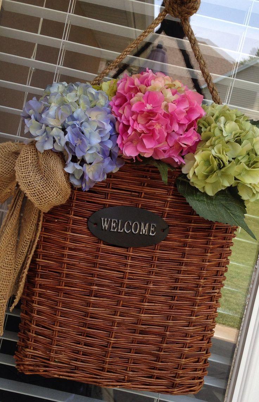 Summer door basket & 43 best Wreaths/Door Baskets images on Pinterest   Diy wreath Do ... pezcame.com