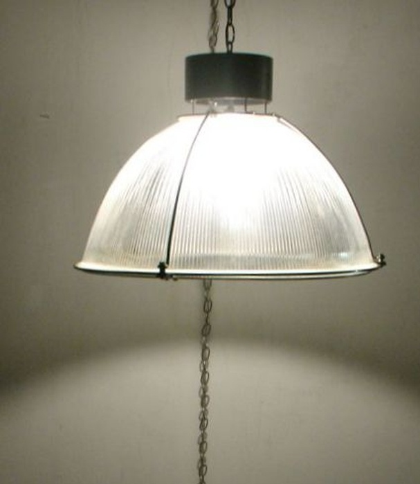 Vintage industrial light halophane hanging swag ceiling lamp