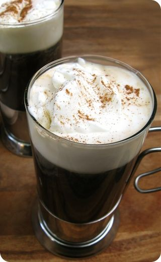 Spiced Americano with cinnamon whipped cream