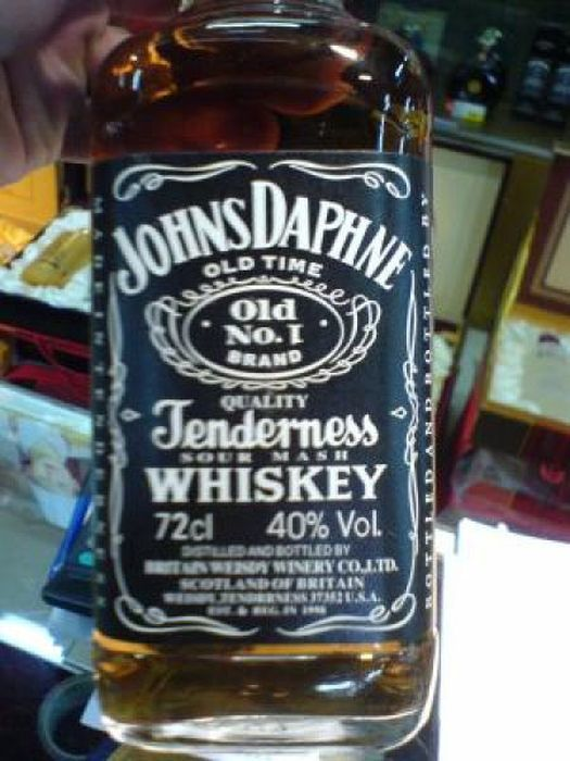 That ain't no Jack Daniels Whiskey. 23 Terrible Knockoffs • Page 4 of 5 • BoredBug