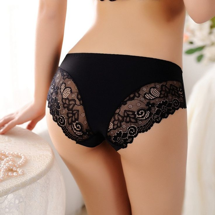 2016 Women's Ladies Fashion Modal underpants Briefs Sexy Seamless Lingerie Underwear Lace Panties Briefs Knickers Free Shipping