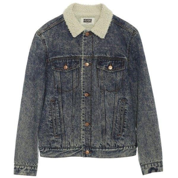 Fur denim jacket (125 CAD) ❤ liked on Polyvore featuring outerwear, jackets, fur denim jacket, fur lined jacket, fur lined jean jacket, jean jacket and denim jackets