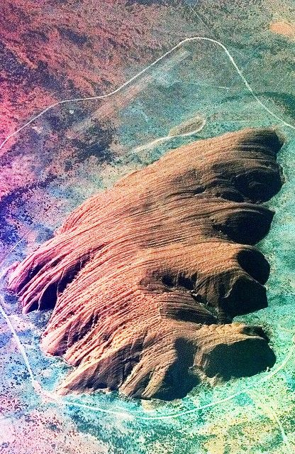 Ayers Rock,Uluru, Australia - the view while Bryce flying the helicopter
