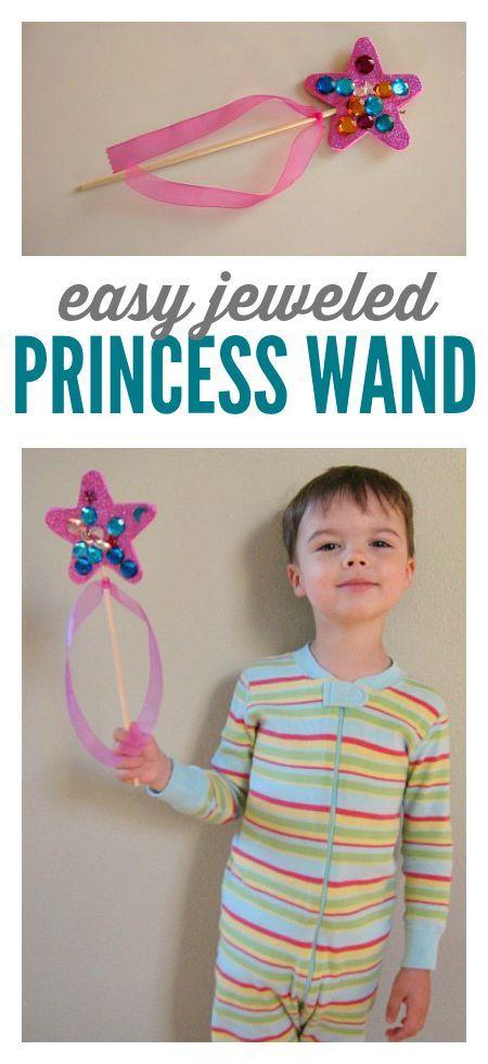 boys like princesses too ! Easy princess wand craft