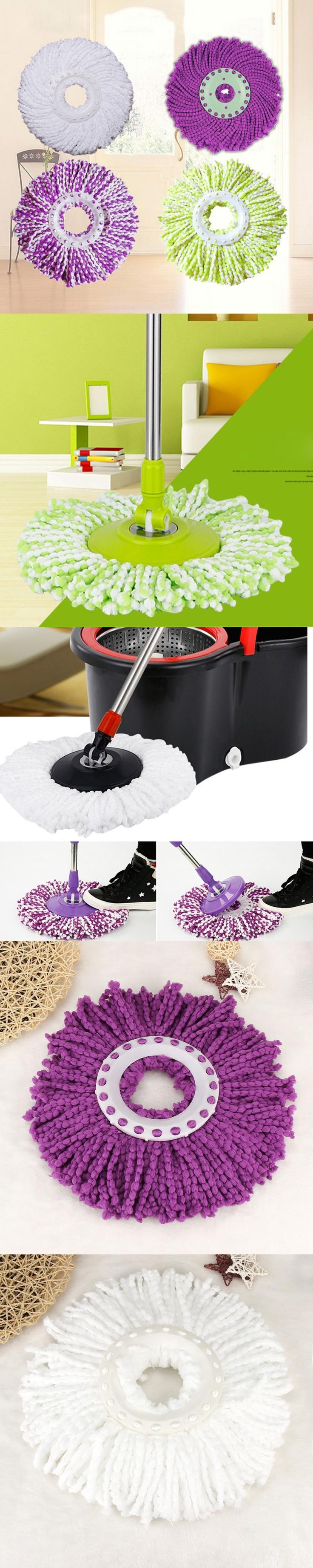 Mop  New Replacement 360 Rotating Head Easy Magic Microfiber Spinning Floor Mop Head  floor cheaning     11.22