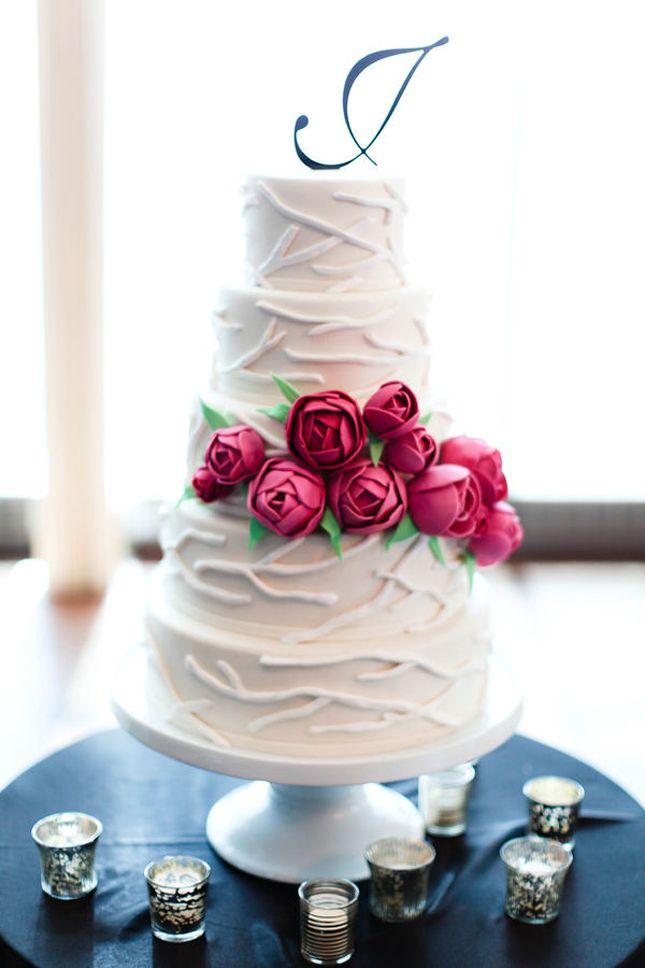 Pretty modern cake