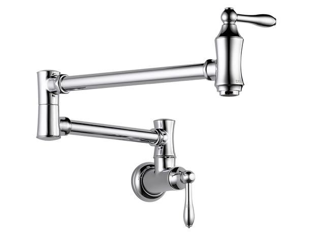 Fill a pasta pot, saucepan or anything else easily with this Delta Faucet chrome pot filler, $362 www.hgtv.com/kitchens/9-simple-kitchen-upgrades/pictures/page-5.html?soc=pinterest