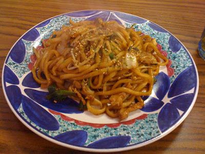Best Food Ever: Spicy Peanut & Sesame Seed Udon Noodles