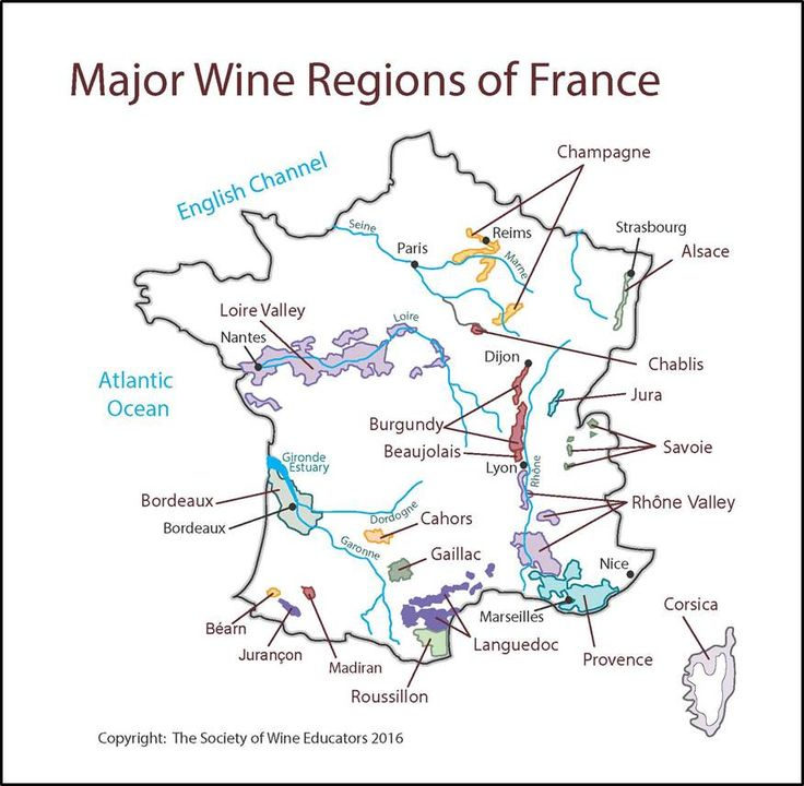 Click here to download a pdf of the swe-map-2016-france Note: The maps and diagrams on this site are the intellectual property of the Society of Wine Educators. They are provided here for th…