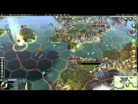 Let's Play Civilization 5 (Huge Earth Gameplay) - Part 44