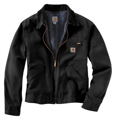 Carhartt Duck Detroit Blanket-Lined Jacket for Men - Black - 2XL