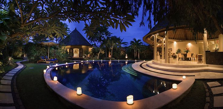 3 bedroom villa evening view #dusunvillas #bali