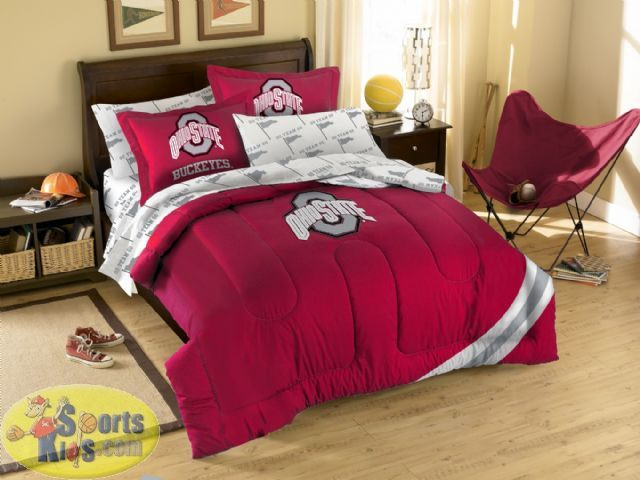 Northwest Ohio State Buckeyes Twin Full Embroidered Comforter Set