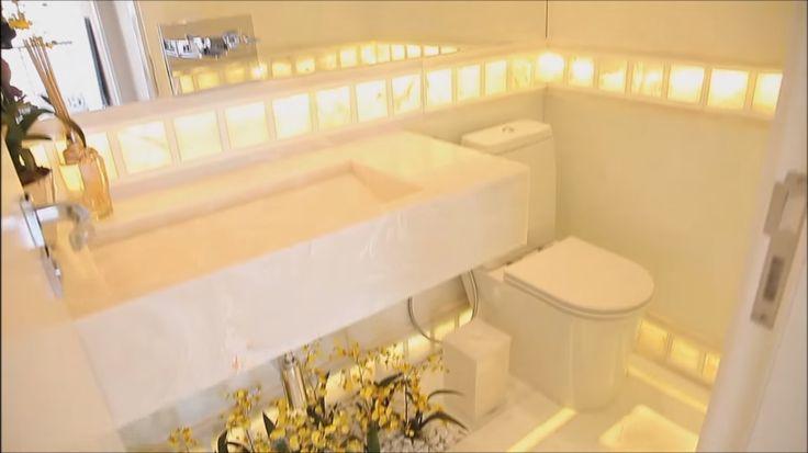 Apartamento Decorado Luxo em SP! Com muitos Cristais!!!  Ems and Cleanses -> Banheiro Decorado De Luxo