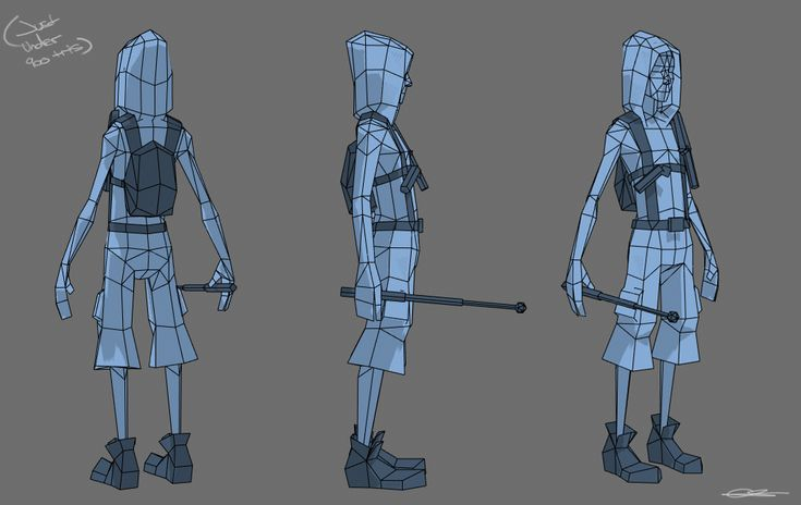 WiP Low poly runner fellow - Polycount Forum