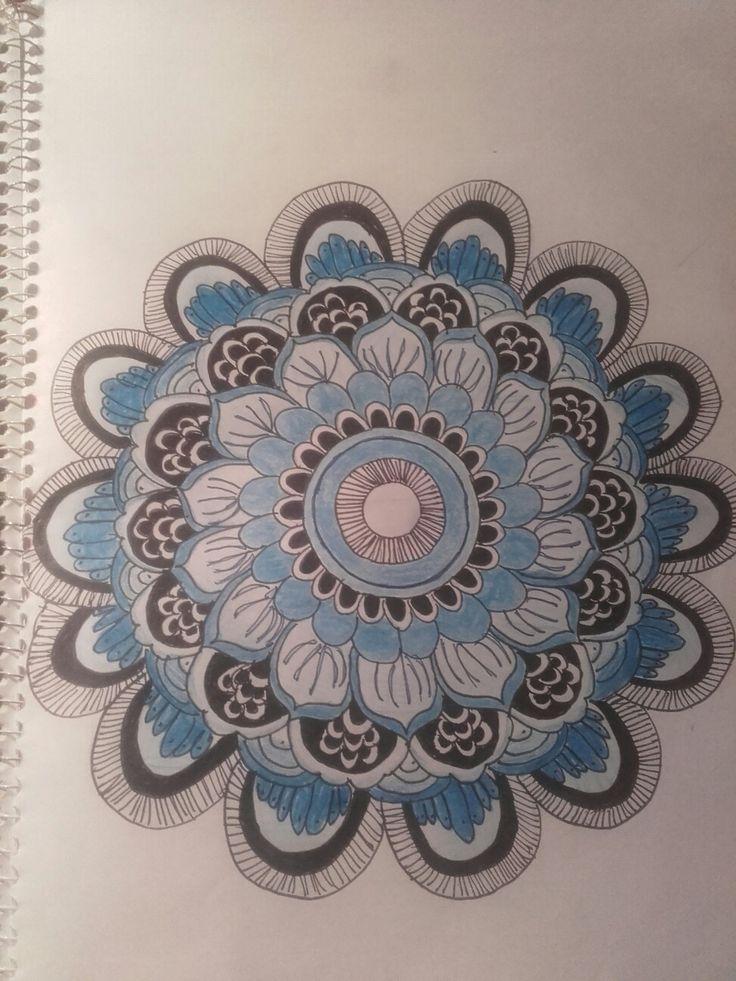 blue mandala.