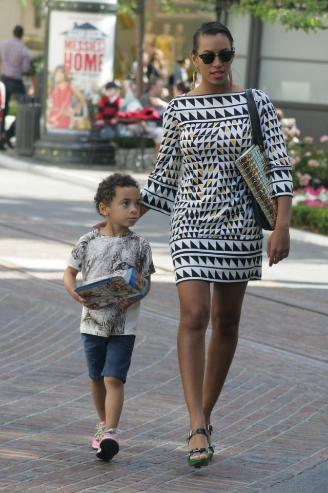 Solange & her son Daniel Julez