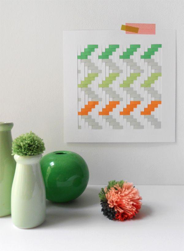Make a Woven Paper Artwork+(via+craft.tutsplus.com)