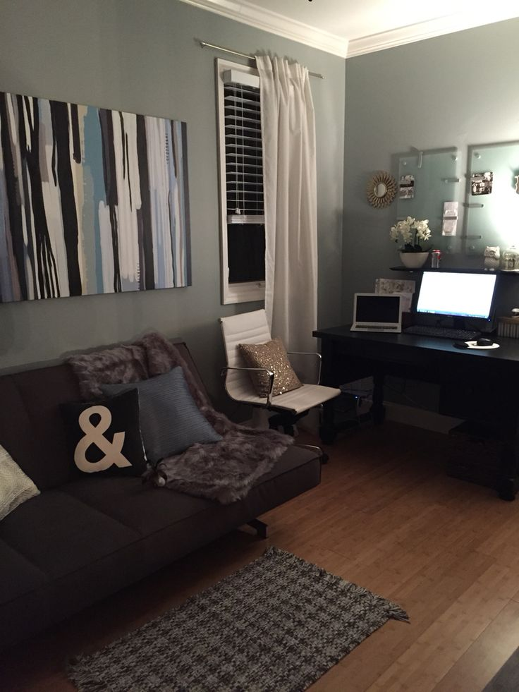 Home office with futon #cb2 #potterybarn #target. Office InspoOffice DecorOffice  IdeasGuest Room ...