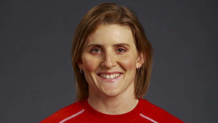 Hayley Wickenheiser, female hockey player currently residing in Calgary with her adopted son Noah.