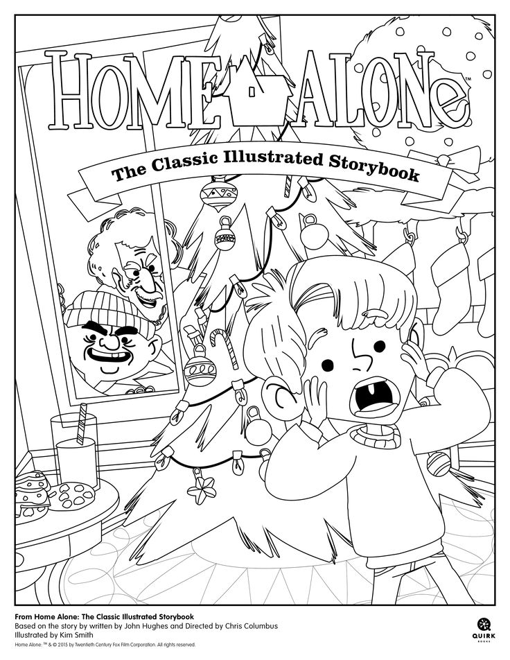 #Coloring page from Home Alone: The Classic Illustrated Storybook.  #homealone #kids #book