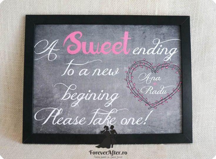 Mesaj pentru marturii A sweet ending to a new beginning