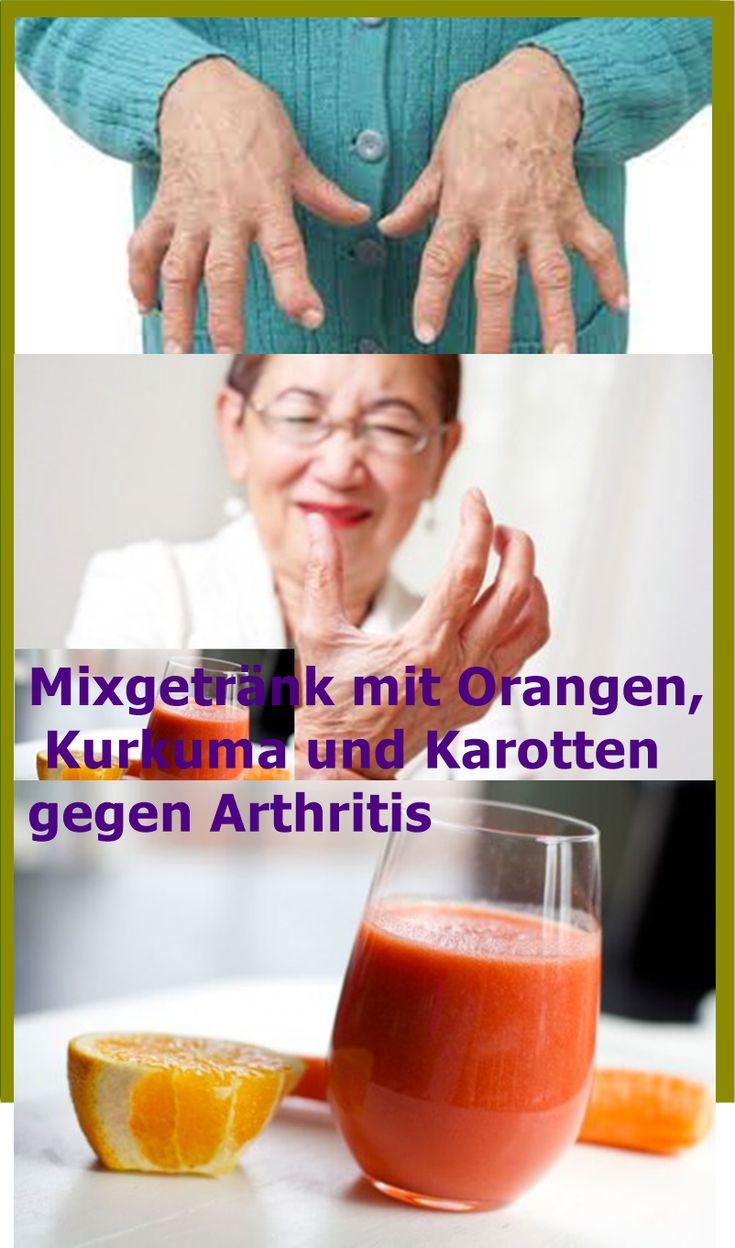 Mixgetränk mit Orangen, Kurkuma und Karotten gegen Arthritis