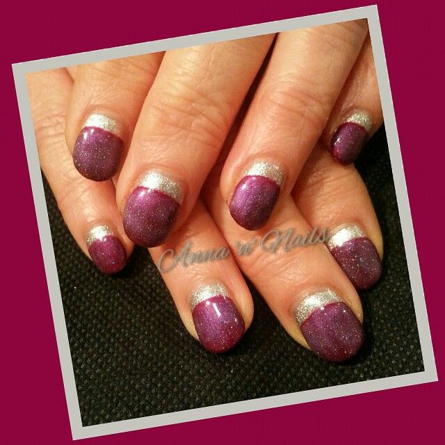 #gelicious #gelpolish #silver #afterglow #burgandy #plum #smithsthipster #canwestillbefriends #internetinspired #reversefrench #happyclient #annannails