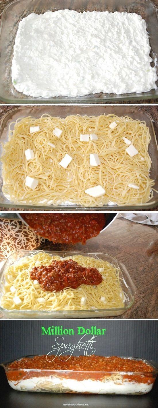 Million Dollar Spaghetti - Not your ordinary spaghetti! Yum