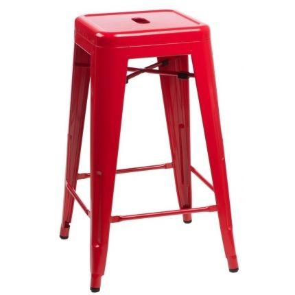 Barová židle Tolix 66, červená