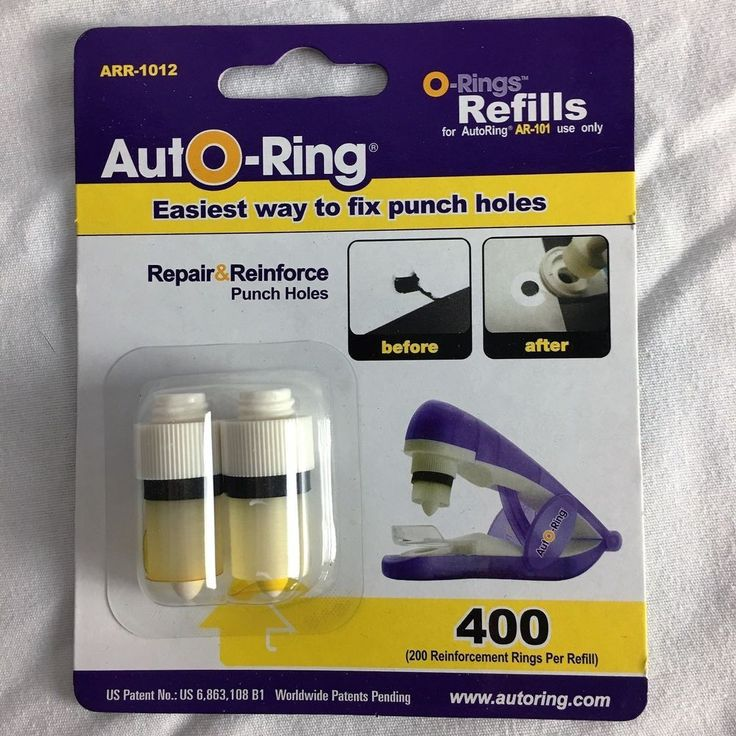Auto ring refills AR-R1012  two refills 200 fix or reinforce punch holes #AutoRing