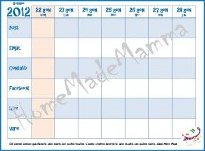 organizza-calendario 2012 da scaricare e personalizzare