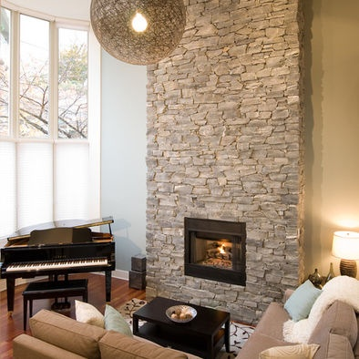 River Rock Fireplace Design Pictures Remodel Decor And