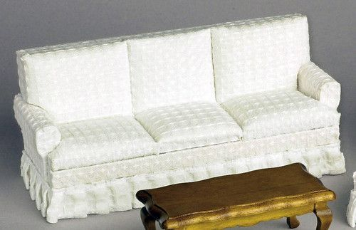 Traditional Sofa - textured White