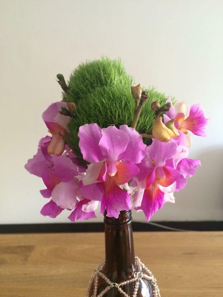 Arreglo flores exóticas, solitarios centro de mesa para matrimonios