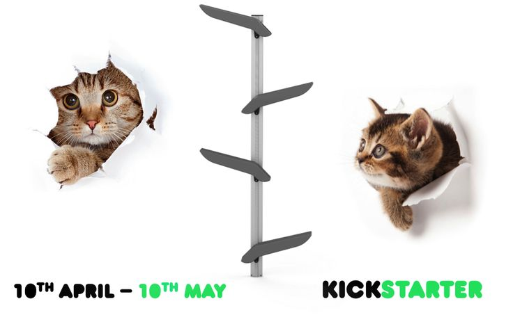 Catipilla is now LIVE on Kickstarter! For the next 30 days, our innovative cat climbing frame will be available for pre-purchase. Click on the picture link to find out more. Please help us spread the word, we would really appreciate your support! 🐱 🐱