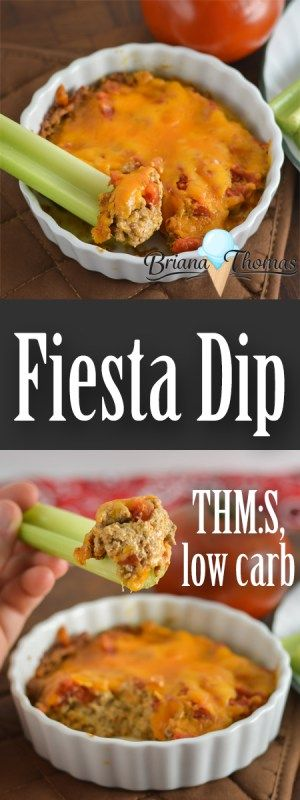 This Fiesta Dip is easy and picky-eater friendly!  THM:S, low carb, gluten/egg/nut free