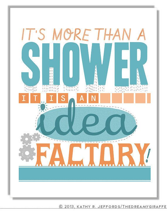 Funny Bathroom Art Print Quote Poster Writer Gift Idea Unique Wall Decor Humorous Sign X 11 Saying