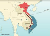 Map of military operations of the Vietnam War