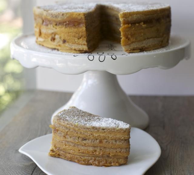 Torta panqueque   En mi cocina hoy  Manjar nuez