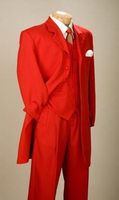 SKU#EMIL_58TA  Fashionable Fire Engine Red Men's Zoot Suits $109 - different color, obviously!