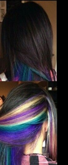 Rainbow under darkness