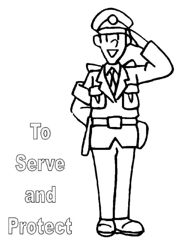 kindly policeman coloring pages