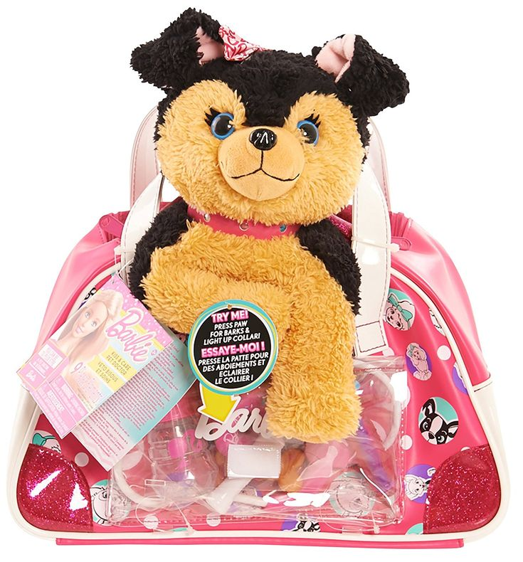 Amazon.com: Just Play Barbie Kiss and Care Pet Doctor Set Puppy Toy, Black/Brown: Toys & Games
