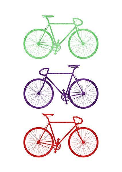 Arte de pared para imprimir (descarga Digital): Verde, morada y roja bicicleta   LA MANERA MÁS RÁPIDA DE DECORAR TU HOGAR 1) Descargar compra inmediatamente después de archivo digital 2) imprimirlo por su cuenta 3) enmarcarlo!   LO QUE TIENES Este listado contiene cinco archivos JPG de alta calidad (300 dpi) en tamaños: -5 x 7 pulgadas / 12.7 x 17.8 cm -8 x 10 pulgadas / 20.3 x 25.4 cm -11 x 14 pulgadas / 27.9 x 35.5 cm -8,3 x 11,7 pulgadas / 21 x 29,7 cm (A4) -11,7 x 16,5...
