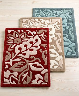 Martha Stewart Collection Rugs Carved Acrylic Floral Accent Rugs Bath Rugs Bath Mats Bed