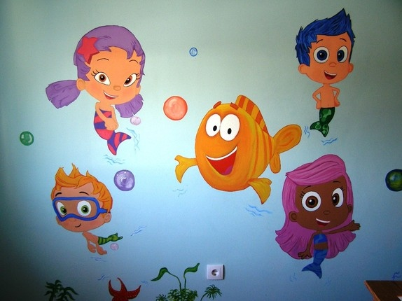 96 best images about josiah 39 s bedroom on pinterest superhero room comic books and bubble guppies - Bubble guppies bedroom decor ...
