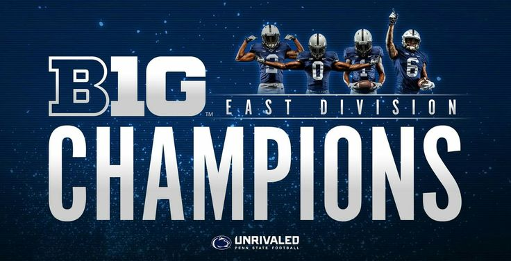 The Nittany Lions are the 2016 Big Ten East CHAMPIONS. Join us in Indy: www.GoPSUsports.com/myticketportal  #MSUBeat
