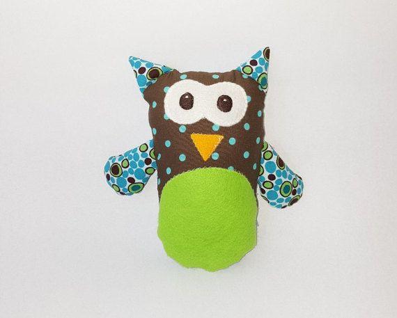 Owl plushie/ softie/ baby toy buho de trapo por FlofyCo en Etsy